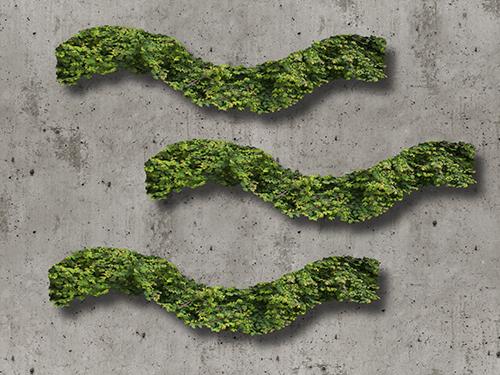 Grünes Icon für die Stadt